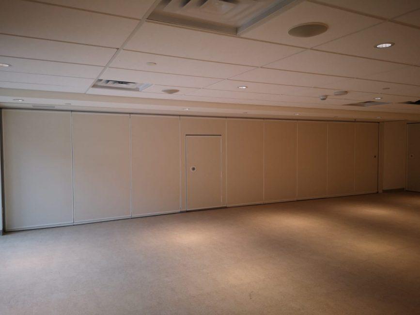 Acoustic operable partition