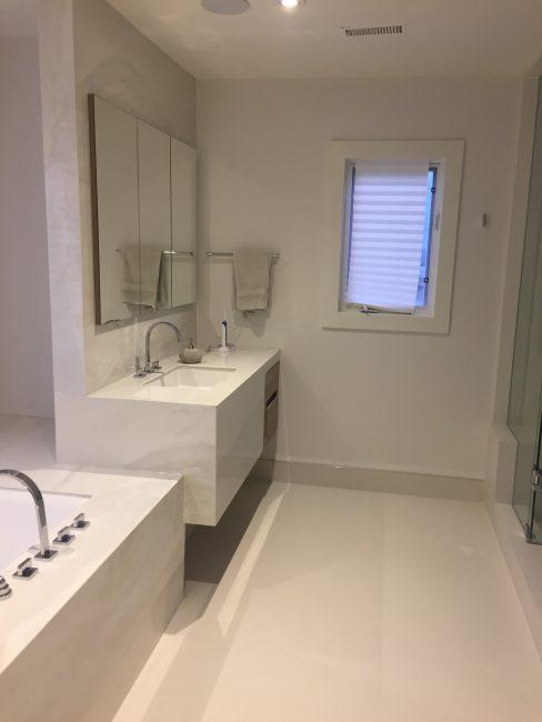 Double vanity and sink custom bathroom