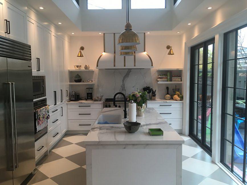 Custom kitchen with island