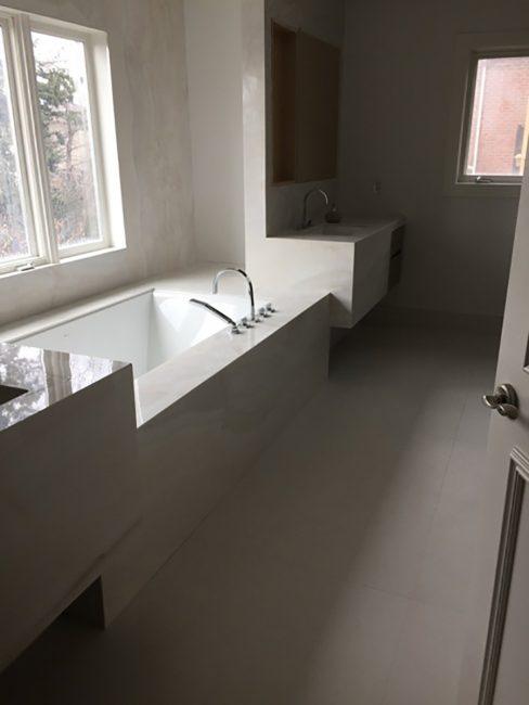 Custom bathtub