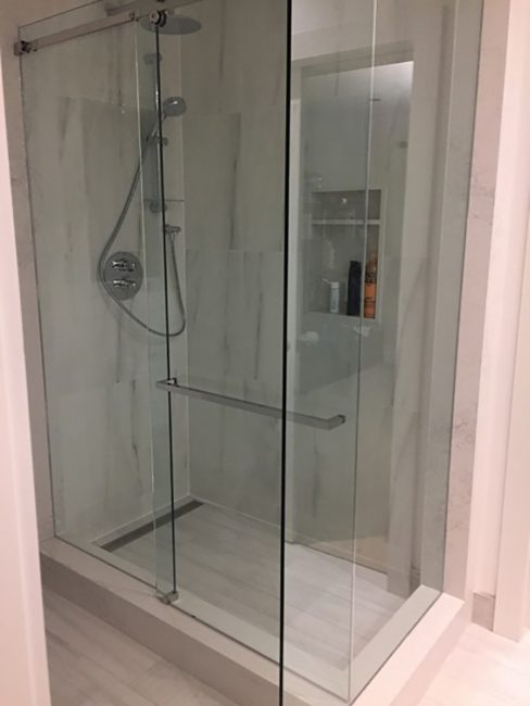 Custom standup shower