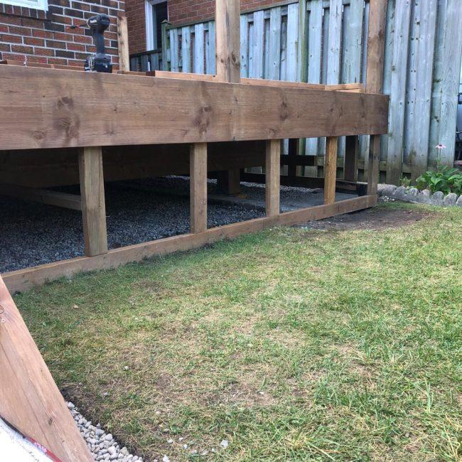 Exterior deck foundation