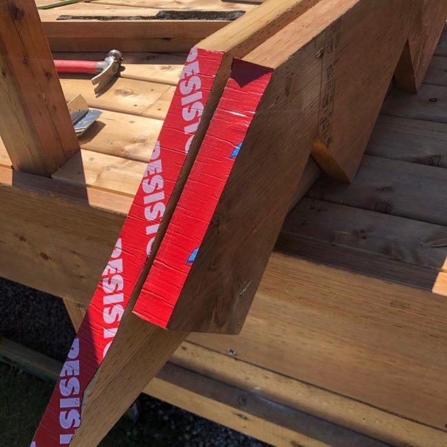 Deck stairs waterproofing