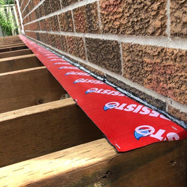Exterior deck waterproofing